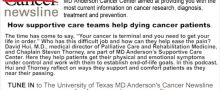How supportive care teams help dying cancer patients