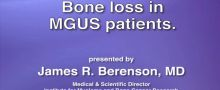 Bone loss in MGUS patients