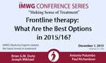 Frontline therapy: What Are the Best Options in 2015/16?