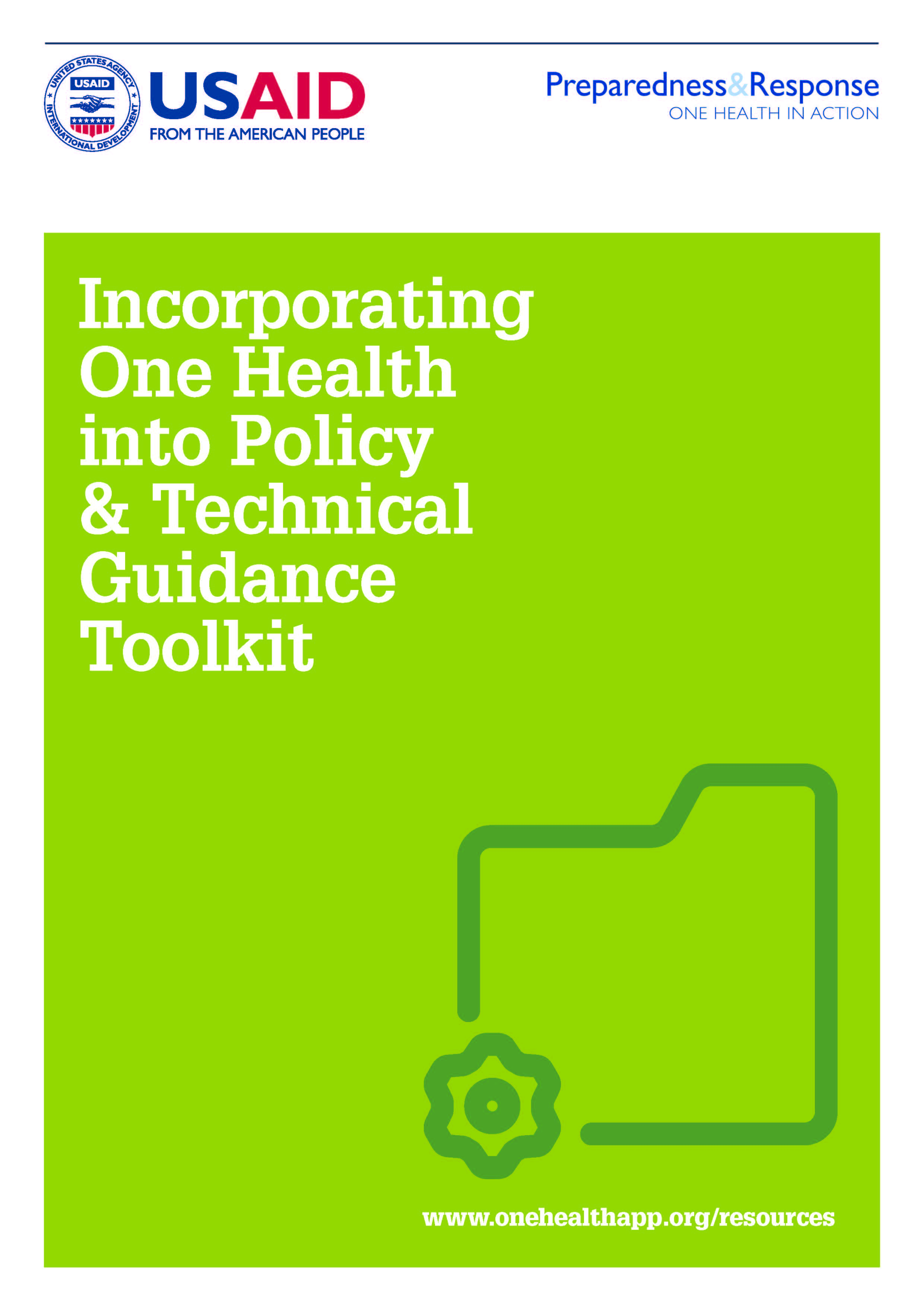 Incorporating One Health into Policy and Technical Guidance Toolkit