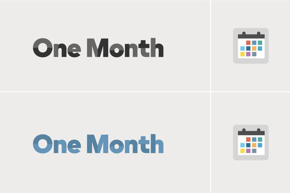 One Month Logo