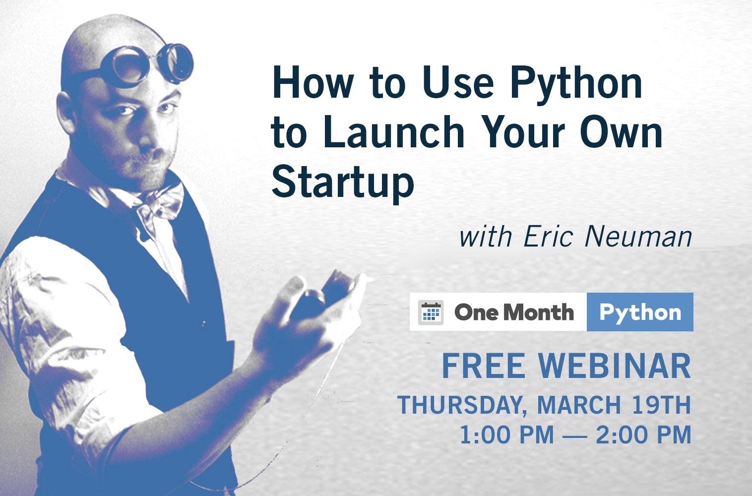 Eric Neuman Python Webinar