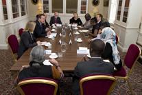 Top transparency names convene at G8 breakfast