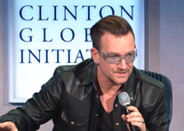 Bono hits oil companies at CGI for blocking anti-corruption rules