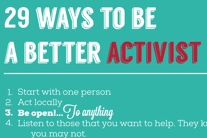 Infographic: 29 Ways to be a better activist