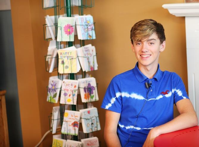 Meet Matt, 15, founder of Cards of Joy