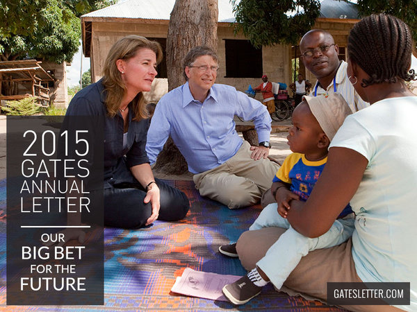 2015 Gates Annual Letter: Our Big Bet for the Future