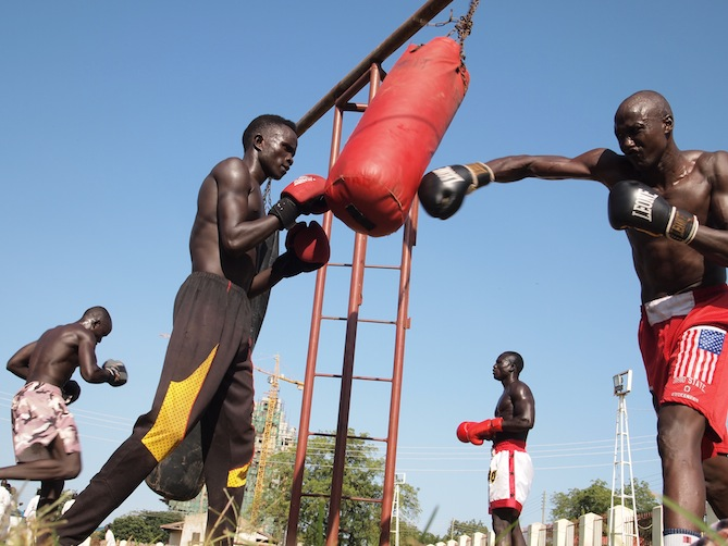 Photos: Kickboxing for peace in South Sudan
