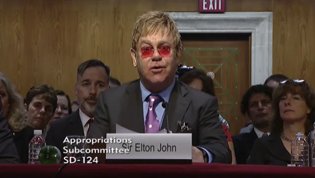"Sir Elton John: ""We can very clearly see the end of AIDS—within my lifetime"""