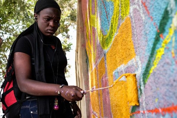 Pikine, Senegal (April 10, 2015) - Dieynaba Sidibe, also known by her artist name Zeinixx, is Senegal's first female graffiti artist and a slam poet. During Senegal's 10-day graffiti festival, known as Festigraff, she not only painted murals, but also helped organize artists from all over Africa, Europe and the US, paint murals in a suburb of Dakar, Senegal.