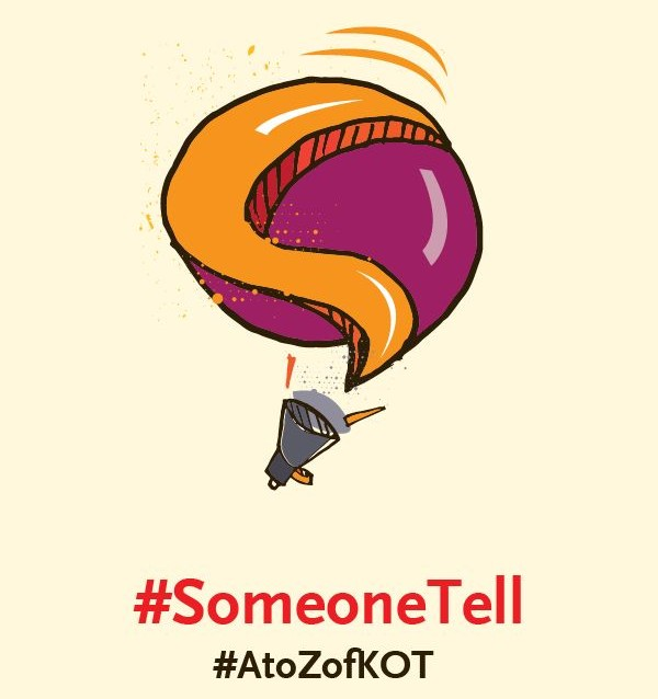 S is for #SomeoneTell