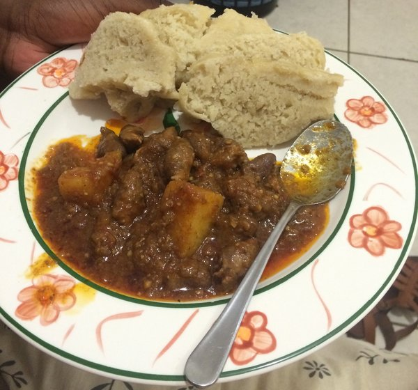 Chicken Curry and Ujeqe