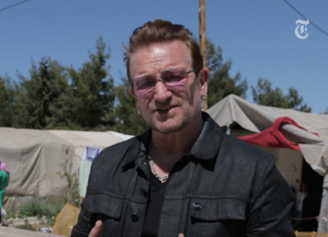 Watch and read: Bono's op-ed and multimedia diary in 'The New York Times'