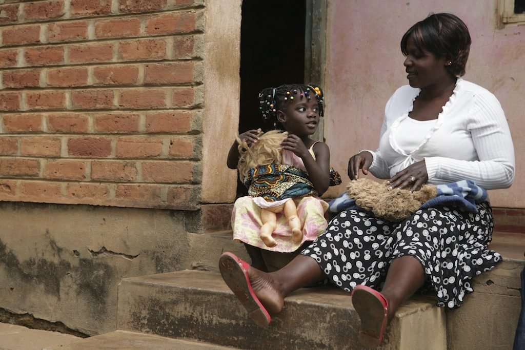 A mother and child spend some quality time together in Malawi.