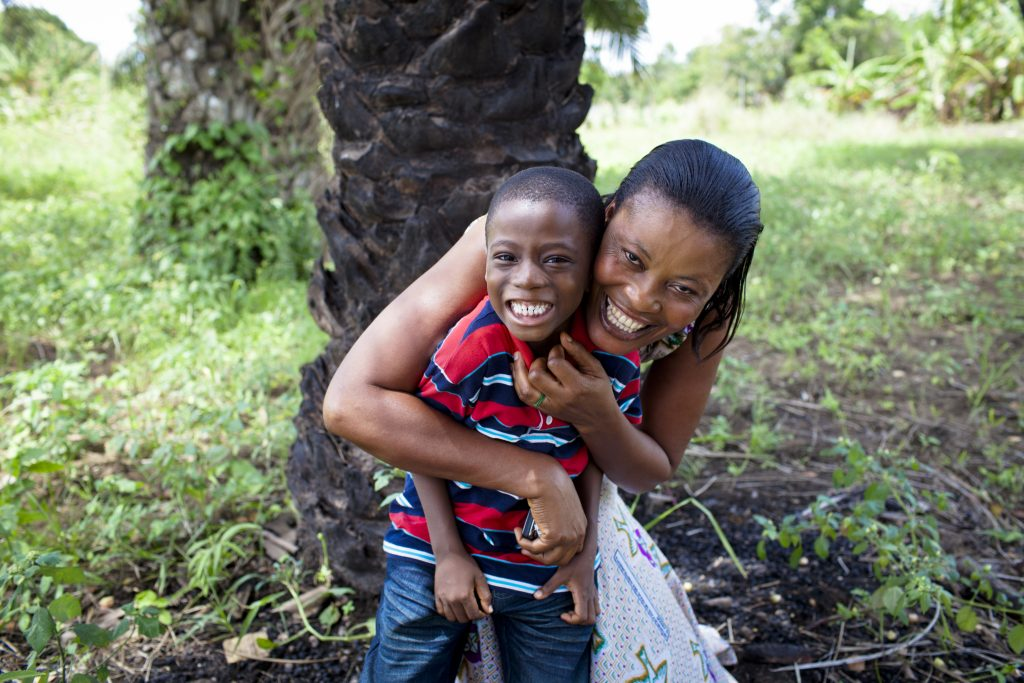 Doris Quaynor (39 years) is HIV+ and a model of hope. Her son, Michael Acquah (6 years) is HIV-. (Photo credit: Nana Kofi Acquah/ The Global Fund/ (RED))