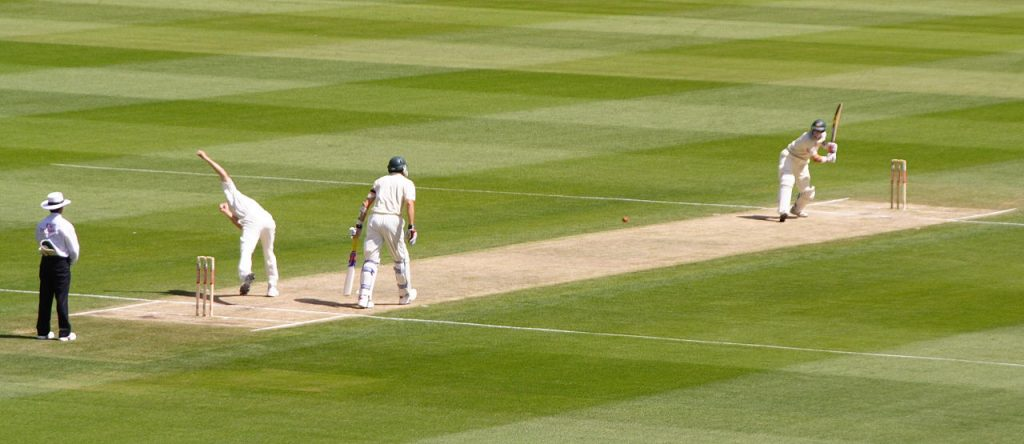 The second day of an Australia vs. South Africa Test Match in Melbourne, in 2005. (Photo credit: Ricky212/Wikimedia Commons)
