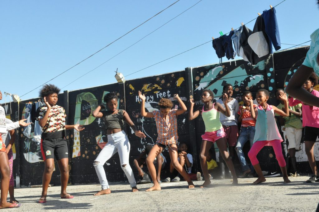 An inspiring performance of gumboot dancing by Happy Feet Youth Project 2