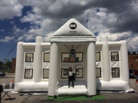 Want to jump in the White House bounce house? Meet up with the ONE Vote caravan!