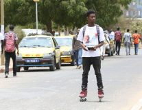 These rollerbladers are hitting the streets to promote vaccines