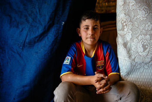 For this 14-year-old boy, life as a refugee meant growing up fast