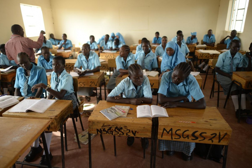 """The student at Morneau Shepell boarding school says """"every girl wants to make it to this school so I consider myself very lucky to have this opportunity."""" © UNHCR/Benjamin Loyseau"""