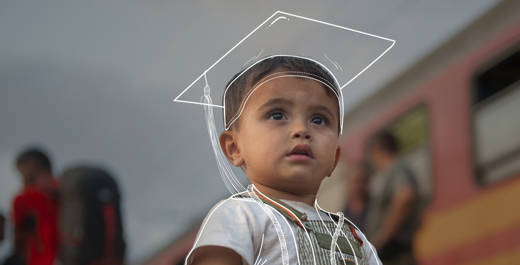 A promotional image from ONE's 2016 Education for Refugees campaign.