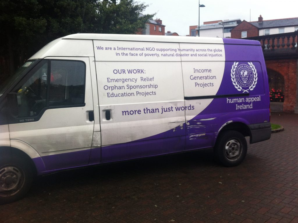 A van for Human Appeal Ireland.