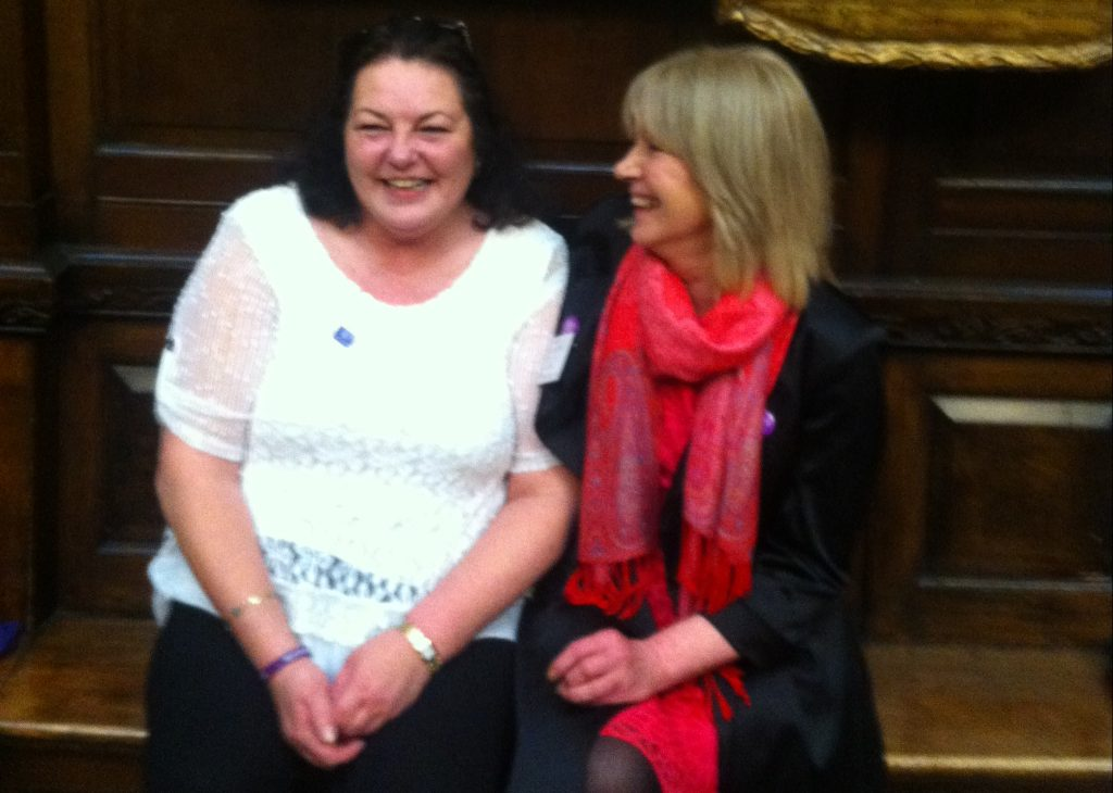 Sheila Geraghty, right, and her colleague and friend, Fiona Duffy.