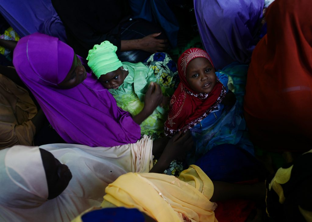 Women and children affected by Boko Haram in northeast Nigeria. (Photo credit: ONE)