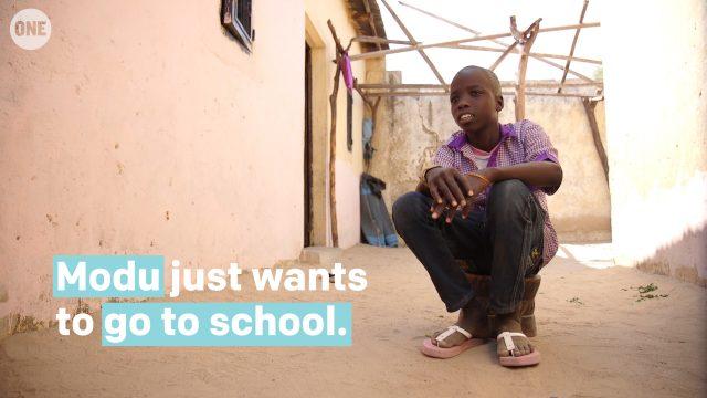 VIDEO: After fleeing Boko Haram violence, Modu is finally back in school
