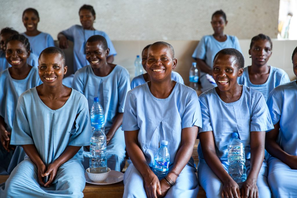 Patients in the fistula ward at CCBRT Disability Hospital. (Photo credit: Sala Lewis, 2016)