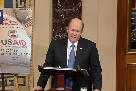 "Sen. Chris Coons on aid: ""Foreign assistance is not a charity… It makes us stronger."""