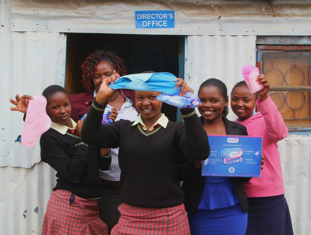 AfriPads provides supplies to the students of City Shine Secondary School.