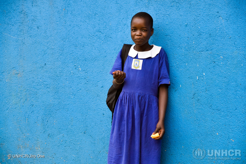 A student in the Educate A Child (EAC) programme in Uganda. (Photo credit: Jiro Ose/UNHCR)
