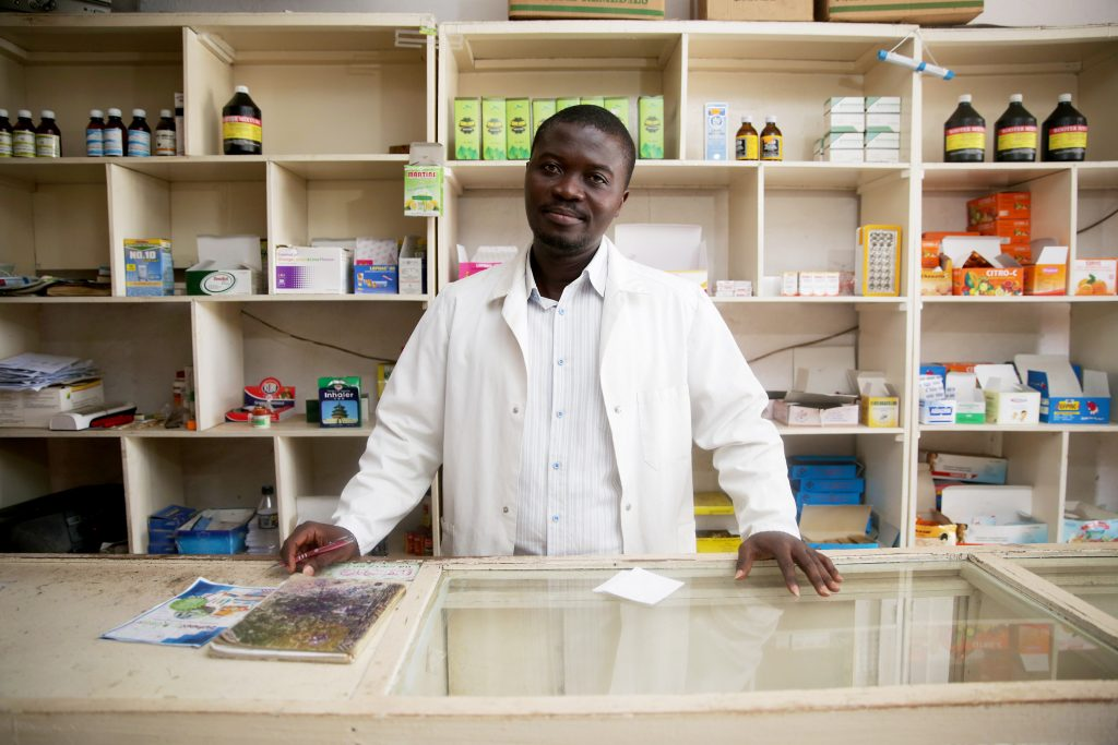 Due to unreliable electricity, Richie and his father couldn't maintain a refrigerator to store life-saving medicines at their pharmacy. But MCC and the Government of Ghana are working to create a power sector that meets the needs of Ghana's people and businesses. (Photo credit: MCC)