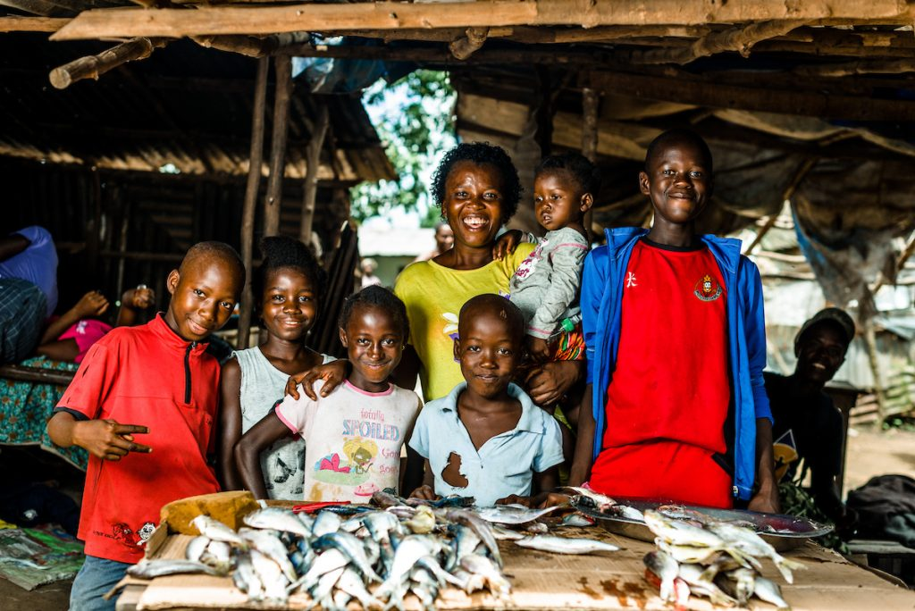 Fatu and her family. (Photo credit: Street Child)