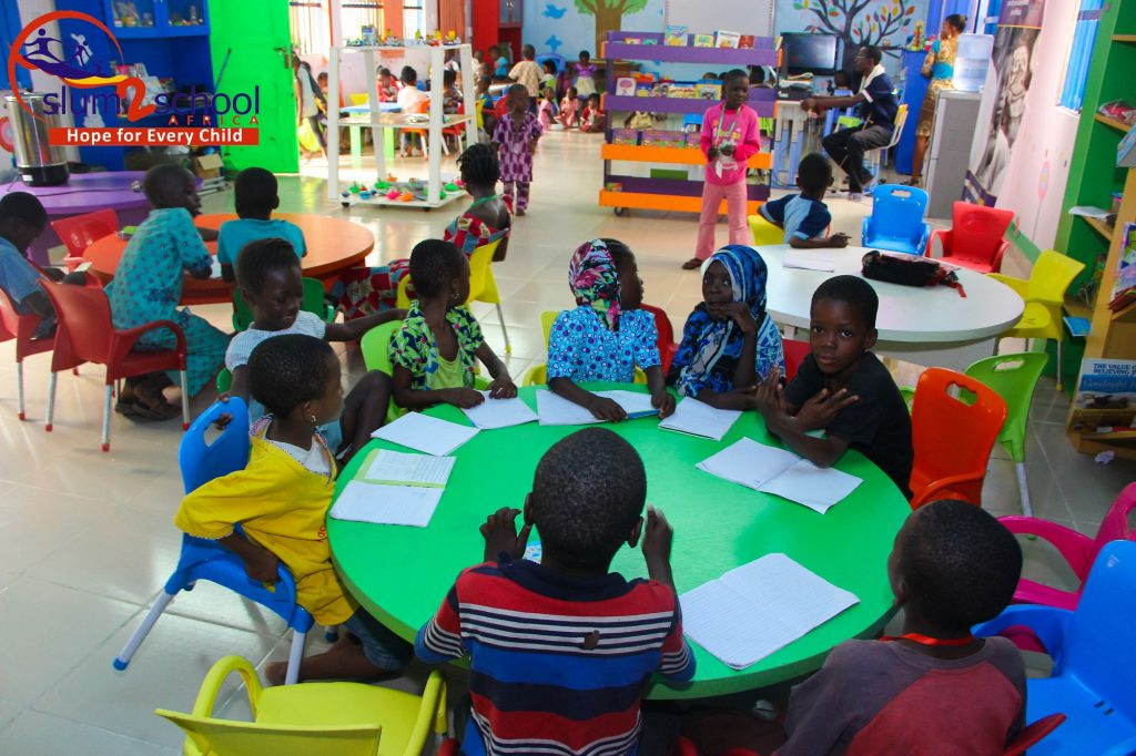 Kids between the ages of 2 and 7 study in the Slum2School Early Development Centre.