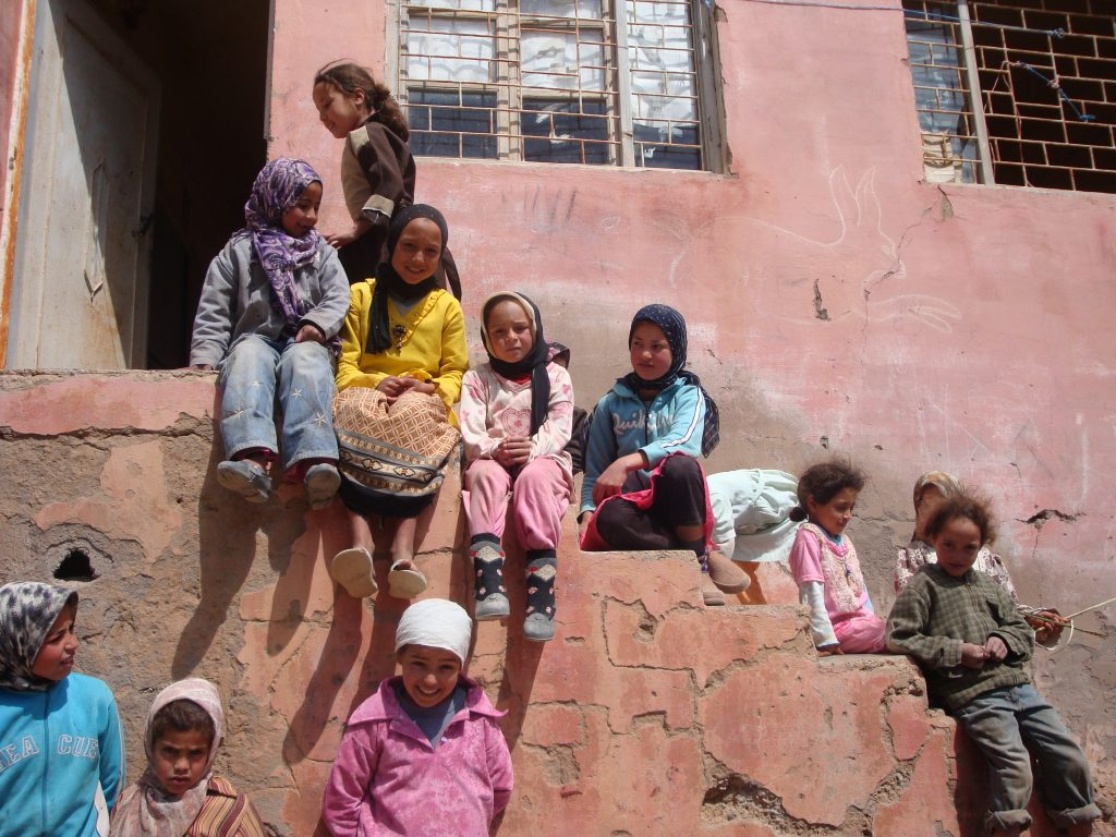 Girls outside their school in Morocco. (Photo: Claire Bernard | J-PAL/IPA)