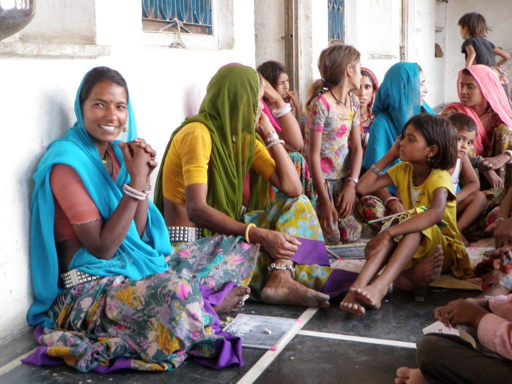 Girls and women at a school in India. (Photo: Vipin Awatramani | J-PAL/IPA)