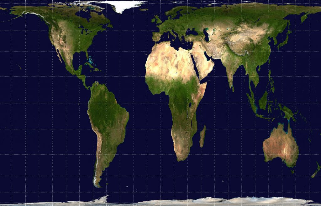 The Gall-Peters projection. (Photo credit: Public domain)