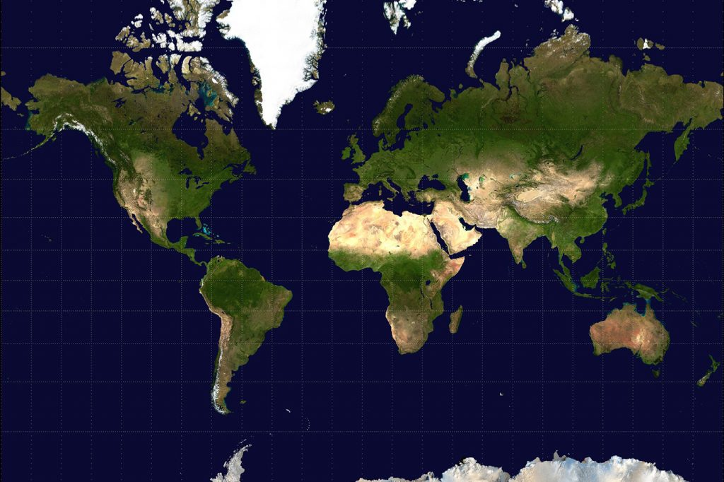 The Mercator projection. (Photo credit: Public domain)
