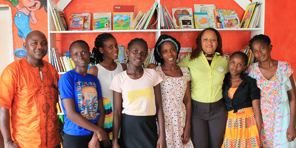 Brenda Moore, third from right, with some of the KEEP students.