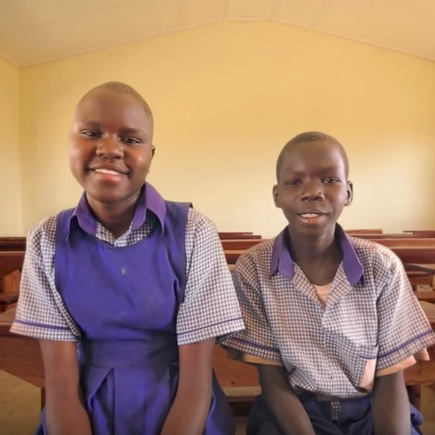 In South Sudan, Eunice and Nelson love their new school