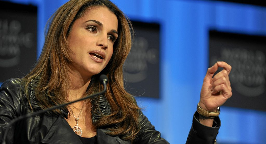 Queen Rania of Jordan. (Photo credit: World Economic Forum/Wikimedia Commons)