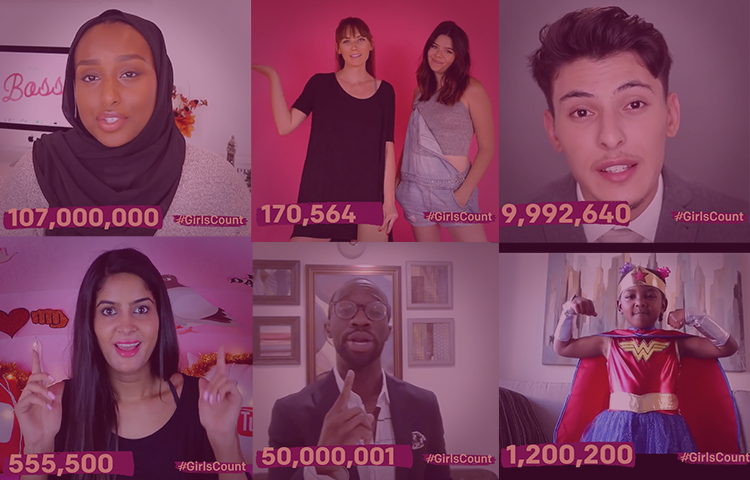 These YouTube stars are telling the world that #GirlsCount