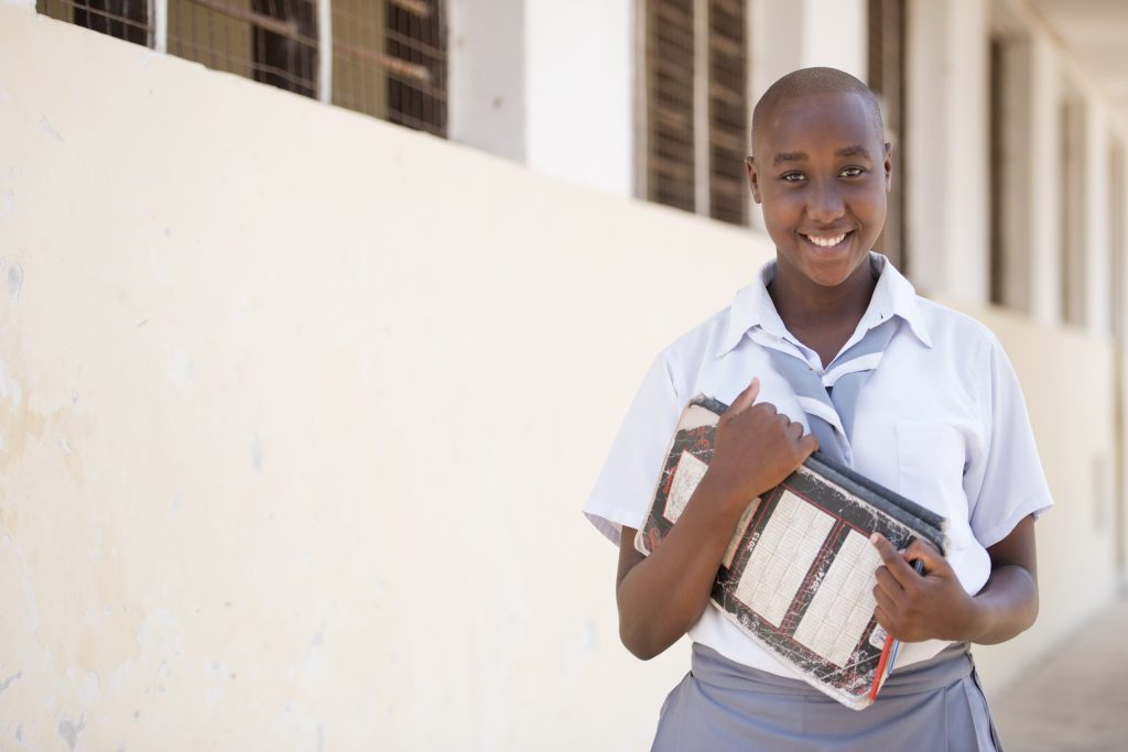 Rose Jeremiah, 15, is part of Room to Read's Girls' Education Program at Kingani Secondary School in Bagamoyo, Tanzania. (Photo credit: Daniel Hayduk)