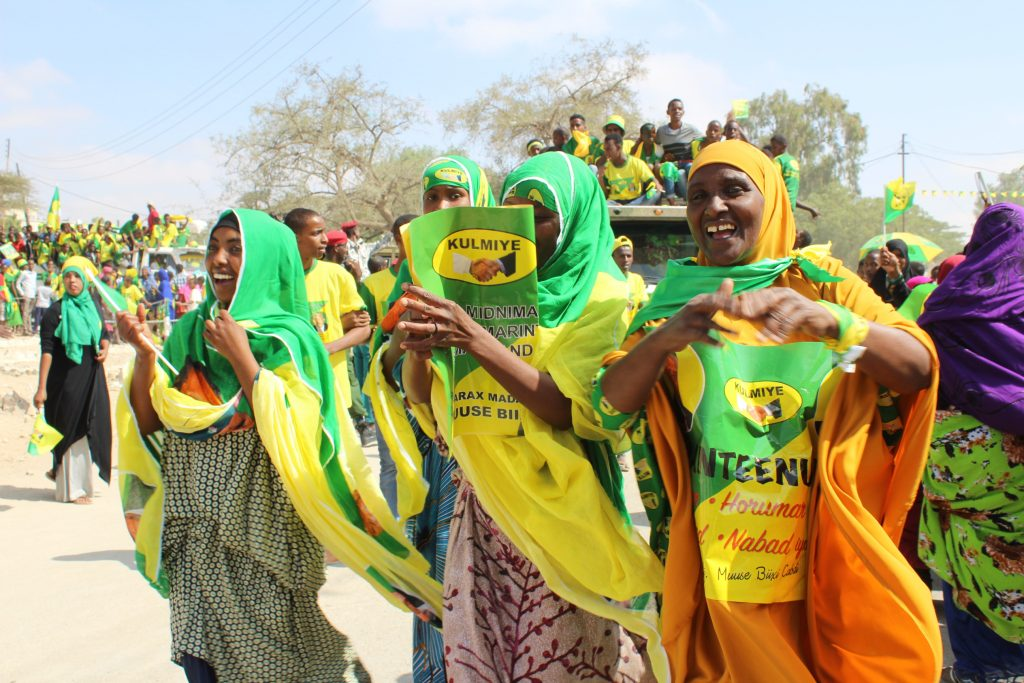 Women in Somaliland came out in force to vote in the recent elections. (Photo credit: Megan Iacobini de Fazio)