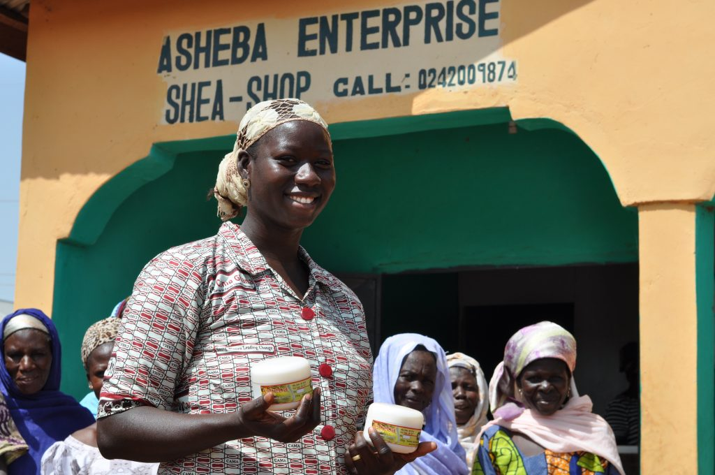 Ayisha Fuseini, founder of Asheba Enteprise, a shea butter processing business creating opportunities and change for women in rural Ghana (Photo: Patrick Hayes/Camfed)