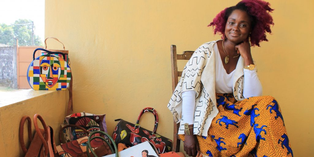 Wilhelmina Myeonway Cooper is an entrepreneur in Liberia's fashion industry. (Courtesy of Myeonway Designs.)