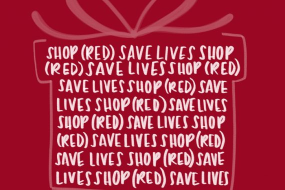 You'll give more with your gifts when you SHOP (RED)!
